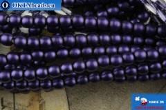 České voskové perle fialový matný 2mm, ~75ks 2-GPR011
