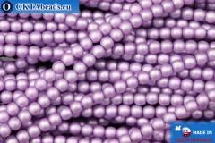 České voskové perle fialový matný (70022M) 3mm, ~75ks 3-GPR032