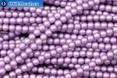 České voskové perle fialový matný (70022M) 4mm, ~60ks 4-GPR032