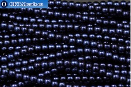 Czech glass pearls cobalt (70063) 4mm, ~60pc 4-GPR009
