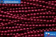 Чешский стеклянный жемчуг красный (70020) 3мм, ~75шт 3-GPR003