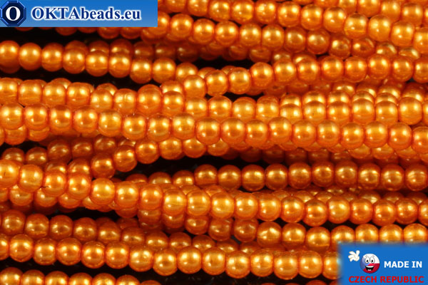 Чешский стеклянный жемчуг оранжевый (70080) 2мм, ~75шт 2-GPR011