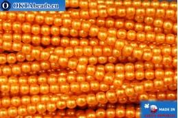 Чешский стеклянный жемчуг оранжевый (70080) 3мм, ~75шт 3-GPR011
