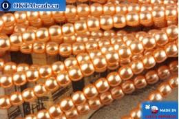 Чешский стеклянный жемчуг оранжевый 2мм, ~75шт 2-GPR040