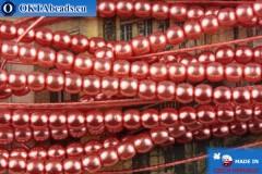 České voskové perle růžový 2mm, ~75ks 2-GPR007