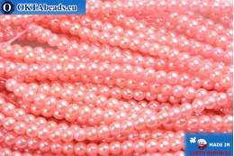 Чешский стеклянный жемчуг розовый 3мм, 75шт GPR014