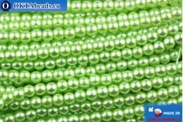 Чешский стеклянный жемчуг салатовый 3мм, ~75шт GPR012
