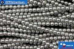 České voskové perle šedý (70041) 3mm, ~75ks