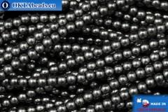 České voskové perle šedý (70448) 3mm, ~75ks
