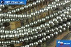 Чешский стеклянный жемчуг серый 2мм, ~75шт