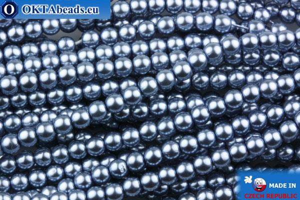 Czech glass pearls grey 3mm, ~75pc GPR006