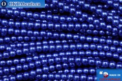 Czech glass pearls blue (70033) 3mm, ~75pc 3-GPR005