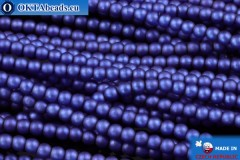 České voskové perle modrý matný (70033M) 2mm, ~75ks