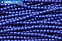 Czech glass pearls blue matte (70033M) 4mm, ~60pc 4-GPR006