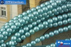 Чешский стеклянный жемчуг синий матовый 2мм, ~75шт