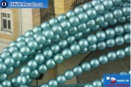 Чешский стеклянный жемчуг синий матовый 2мм, ~75шт 2-GPR027