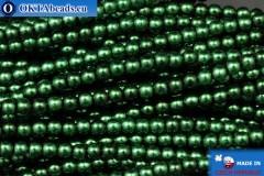 Чешский стеклянный жемчуг зеленый (70057) 3мм, ~75шт