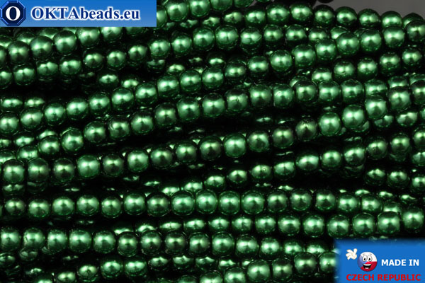 Чешский стеклянный жемчуг зеленый (70057) 3мм, ~75шт 3-GPR013