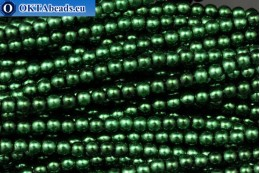 Czech glass pearls green (70057) 4mm, ~60pc 4-GPR013