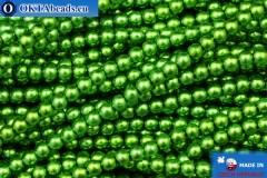 Чешский стеклянный жемчуг зеленый (70459) 3мм, ~75шт