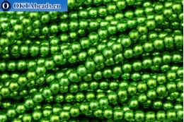 Czech glass pearls green (70459) 4mm, ~60pc 4-GPR033