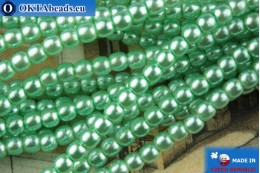 Czech glass pearls green 2mm, ~75pc 2-GPR042