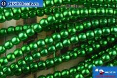Czech glass pearls green 2mm, ~75pc 2-GPR012
