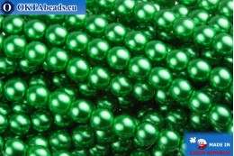 Czech glass pearls green 4mm, 60pc GPR410