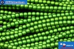 Чешский стеклянный жемчуг зеленый матовый (70459M) 3мм, ~75шт