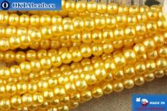 České voskové perle žlutý 2mm, ~75ks 2-GPR014