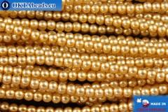 České voskové perle zlato (70686) 2mm, ~75ks