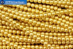 Czech glass pearls gold (70686) 4mm, ~60pc 4-GPR017