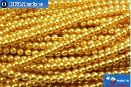 Чешский стеклянный жемчуг золото 3мм, 75шт GPR018