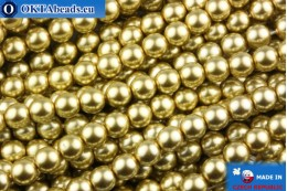 Czech glass pearls gold 4mm, ~60pc GPR425