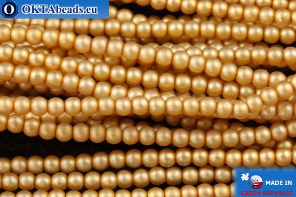 České voskové perle zlato matný (70686M) 2mm, ~75ks 2-GPR018