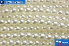 České voskové perle bílý 3mm, 75ks