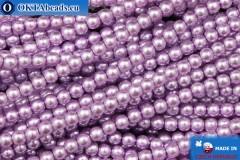 České voskové perle fialový (70022) 3mm, ~75ks