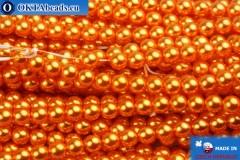 Czech glass pearls orange 4mm, 60pc