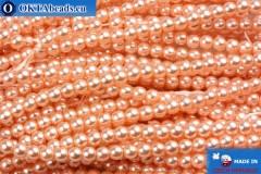 Czech glass pearls pink 3mm, 75pc
