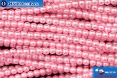 Czech glass pearls pink (70475) 3mm, ~75pc