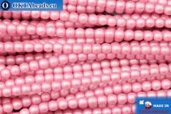 Czech glass pearls pink matte (70475M) 3mm, ~75pc