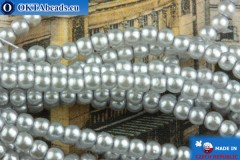 Czech glass pearls grey 2mm, ~75pc