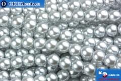 Czech glass pearls light grey 4mm, 60pc
