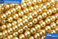 České voskové perle světle zlato 4mm, 60ks