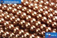 Czech glass pearls light copper 4mm, 60pc