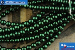Czech glass pearls green 2mm, ~75pc