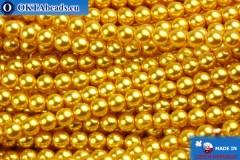 České voskové perle zlato 4mm, 60ks