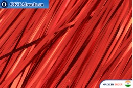 Broad plate red 1mm, 60cm*10pc W0023