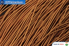 Smooth soft gimp wire bronze 1mm, 5gr