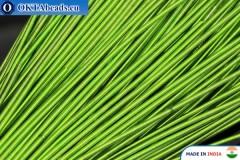 Francouzské drát hladký měkký světle zelený 1mm, 5gr